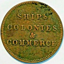 Canada token Breton 997 Ships Colonies Commerce (B+774)