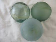 New listing 3 Authentic Japanese Glass Floats With Cool Amber Swirls Alaska Beach Combed