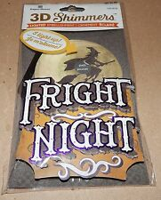 Halloween Lighted 3D LED Shimmers Embellishment Ornament Fright Night 124P