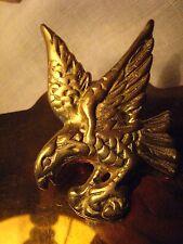 PORTE-BLOC à PINCE AIGLE BRONZE style EMPIRE Vintage an. 60 support laiton doré