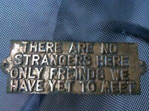 Brass Sign. Vintage. 'Friends' Saying
