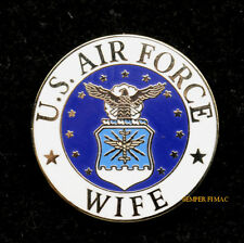 WIFE US AIR FORCE MOTHER HAT LAPEL VEST PIN UP GRADUATION GIFT MOM ANG DAD WOW