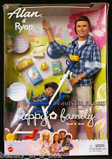 Alan & Ryan Happy Family Barbie Doll Ken Dad and Son ~ Stroller Midge NRFB EXC ""