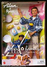 Alan & Ryan Happy Family Barbie Doll Ken Dad and Son ~ Stroller Midge NRFBVG