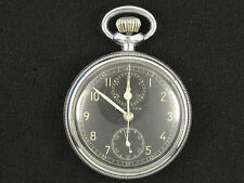 Vintage 1940s Early Wwii Hamilton Model 23 Navigational Pocket Watch * Working