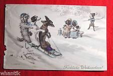 Weihnachtgrüsse,  Farblithograph. 1900, sign. R.Ulreich