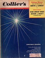 1953 Colliers December 25 - South Bend IN; Sheen and Birth of Christ; Joe Ferrer