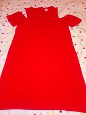 Next Girls Cold Shoulder Red Dress Age 12 Years NWOT