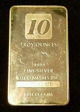 10 oz Silver Bar Kitco ☆ .9999 pure silver ☆ Kitco Metals ☆