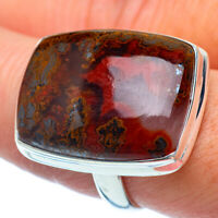 Large Moroccan Agate 925 Sterling Silver Ring Size 8.5 Ana Co Jewelry R37682F