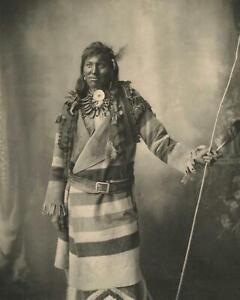 Antique Photo ... Canadian Native , Hudson Bay Coat ... Photo Print 8x10