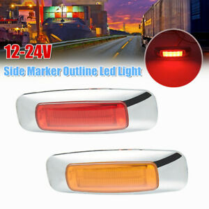 12V-24V Side Marker Outline Led Light Indicator Brake Light Trailer Truck Lorry