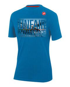 NEW Castelli STELVIO UNFAIR ADVANTAGE T-Shirt Casual Shirt : DRIVE BLUE