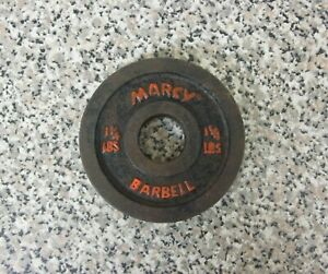 """Vintage Marcy 1-1/4 LB 1"""" Bar Barbell Bar Bell Weight Plate Used Free Shipping"""
