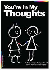 Sympathy Card  - Chalks Designer Range - Thoughts CK017