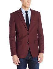 Perry Ellis Men's 40/Long Stretch Solid Sateen Port Slim-Fit Sportcoat Blazer