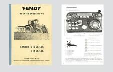 FENDT Farmer 310 LS/LSA  311 LS/LSA  Betriebsanleitung Original 1985