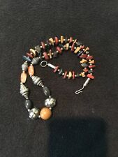 Vintage Necklace with Agate and Carnelian