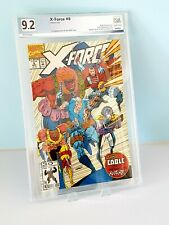 X-FORCE # 8 PGX 9.2 1ST CAMEO APPEARANCE OF DOMINO 1ST WILD PACK Like CGC