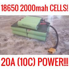 10 SONA 18650 36V 4.0ah 20A BATTERY EBIKE VAPE POWERWALL BATTERIES 200 CELLS BMS