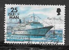 ISLE OF MAN POSTAL ISSUE USED STAMP - DEFINITIVE SHIPS - ROYAL VIKING SKY 1997
