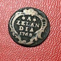 #3900 - RARE - Inde 1 duit (Zélande) 1768 - FACTURE