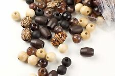 Clearance! Assorted Wood Pony Beads - 450 Beads