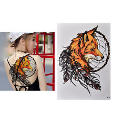 Waterproof Fox Dreamcatcher Temporary Tattoo Large Arm Body Art Tattoos Stick XL