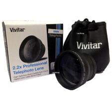 NEW VIVITAR 2.2X 58mm TELEPHOTO Conversion LENS FOR 58mm LENS - BLACK