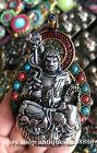 Tibet Buddhism Bronze Turquoise Silver Fudo Myo o   Acalanatha Buddha Pendant