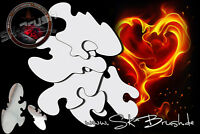 Airbrush Schablone Freehand Feuer & Flammen - True Fire Stencil MEGA SET 12 Tlg.