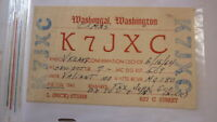 OLD VINTAGE QSL HAM RADIO CARD POSTCARD, WASHOUGAL WASHINGTON 1964