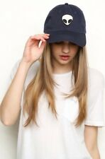AUTHENTIC brandy melville navy blue katherine alien patch baseball Hat Nwt