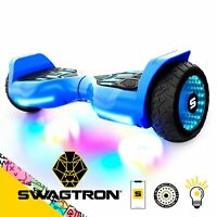 Swagboard Warrior T580 Hoverboard w/ 30 Music-Synced & 6.5-Inch LED Wheels Blue