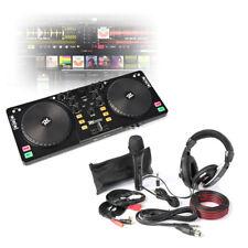 USB DJ Mixer Controller with MIXVIBES, Headphones & Microphone Starter Kit