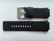DIESEL Original Ersatzband Lederarmband DZ1109 Uhrband schwarz watch strap