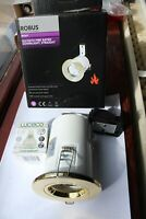 Robus RF201 GU10 Polished Brass Fire Rated Twist & Lock Downlight  5w 4000k lamp
