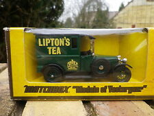 MATCHBOX YESTERYEAR Y5 TALBOT camionnette 1927 LIPTON'S TEA neuf en boite jaune