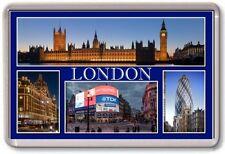AIMANT DE RÉFRIGÉRATEUR - LONDRE - Large - TOURIST 4 Bleu
