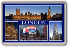 FRIDGE MAGNET - LONDON - Large - TOURIST 4 Blue