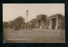 LONDON Hyde Park Corner street level scene used c1915 WW1 slogan RP PPC National