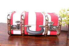 "VINTAGE! Oldtimerkoffer Kinder Koffer rot gestreift Holzlatten 3 Größen ""S"" Eise"