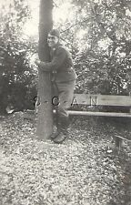 WWII German Luftwaffe RP- Airmen- Uniform- Hat- Tree Hugger- Hugs Tree- Comic