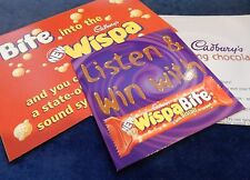 "Cadbury's Wispa ""Talking chocolate"" advertising material  C2000. Good condition"