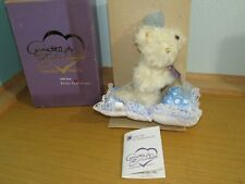 New Annette Funicello Collectible Teddy Bear Gracie On Pillow In Box Mohair