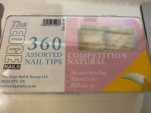 The Edge Competition Natural Nail Size 1 false nails Tips 36+10