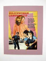alter Kino Film Druck hinter Passepartouts Policewoman Centerfold 50x40 cm 453