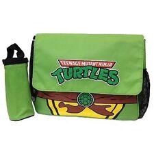 TMNT Teenage Mutant Ninja Turtles Messenger Diaper Bag Set, Burp Cloth, Pad
