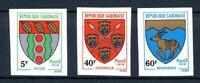 Gabun MiNr. 676-78 geschnitten postfrisch MNH Wappen (B542