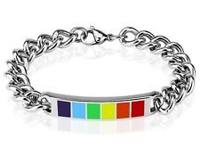 Rainbow Enamel Bracelet – Stainless Steel – BOXED